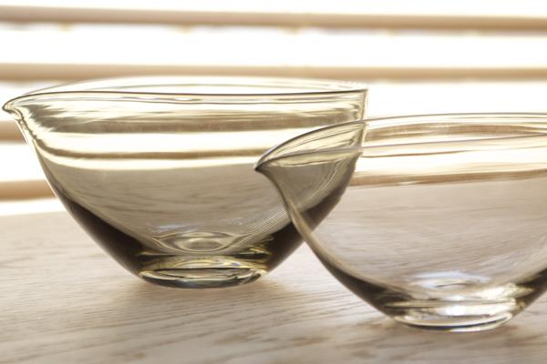 studio prepa ガラス小鉢・片口 黒