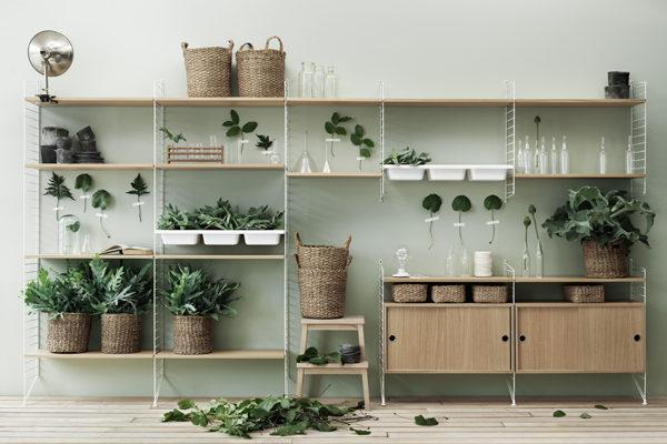 北欧デザイン string shelf(ストリング シェルフ)収納家具