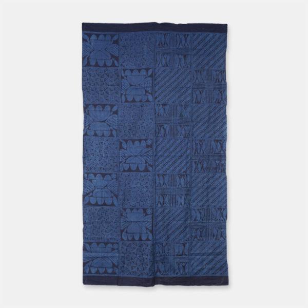 ナイジェリア ヨルバ族の藍染布 アディレ・エレコ
