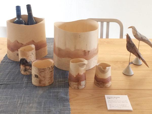 白樺の酒器 シラカバ ワインクーラー、片口、ビアカップ