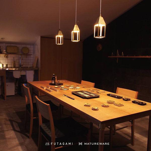 FUTAGAMI フタガミの新作照明、ランタンランプ 吊り型と置き型