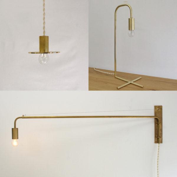 千 sen(せん)シンプルな真鍮照明