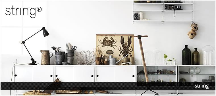北欧デザイン インテリア収納  string shelf(ストリング シェルフ)
